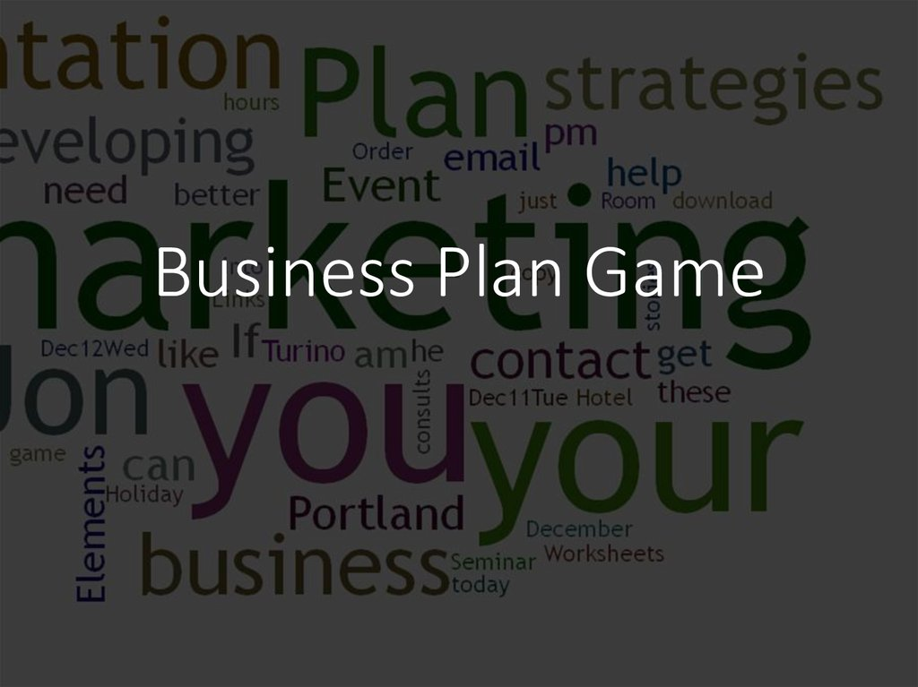 Business Plan Game