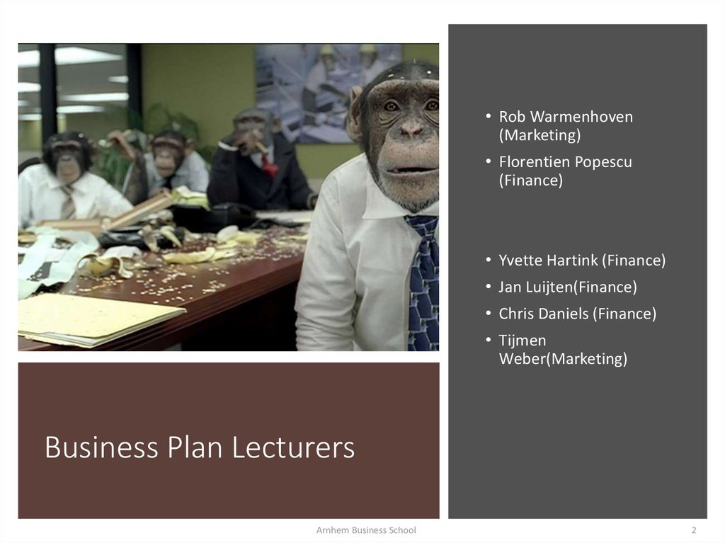 Business Plan Lecturers