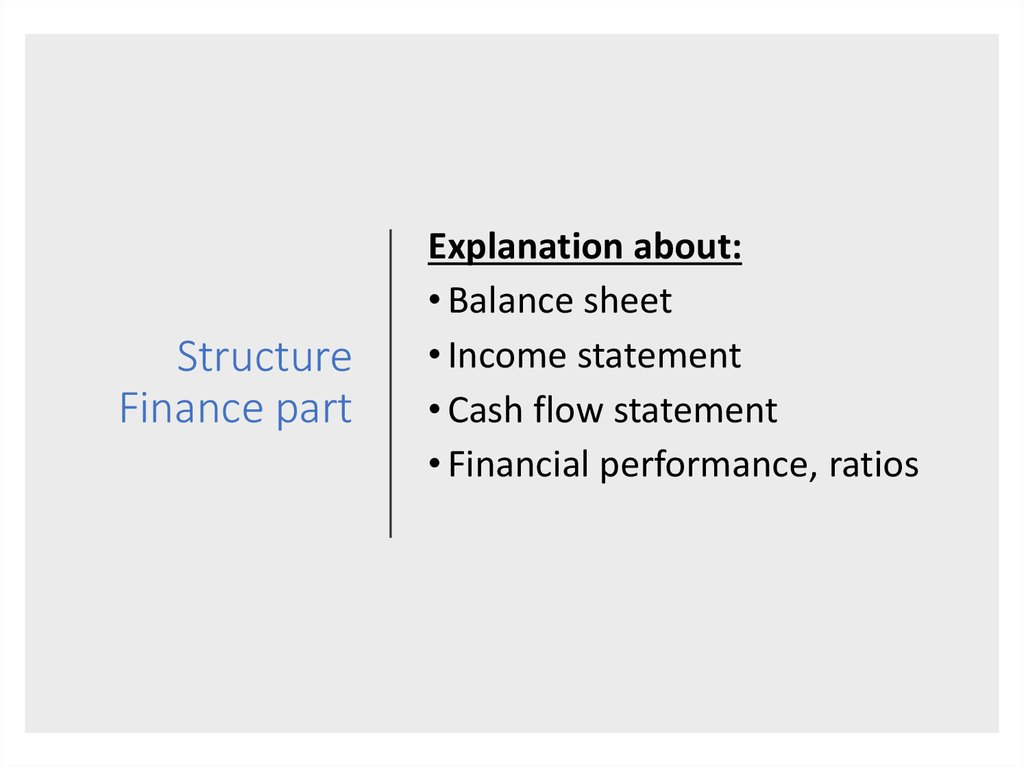Structure Finance part