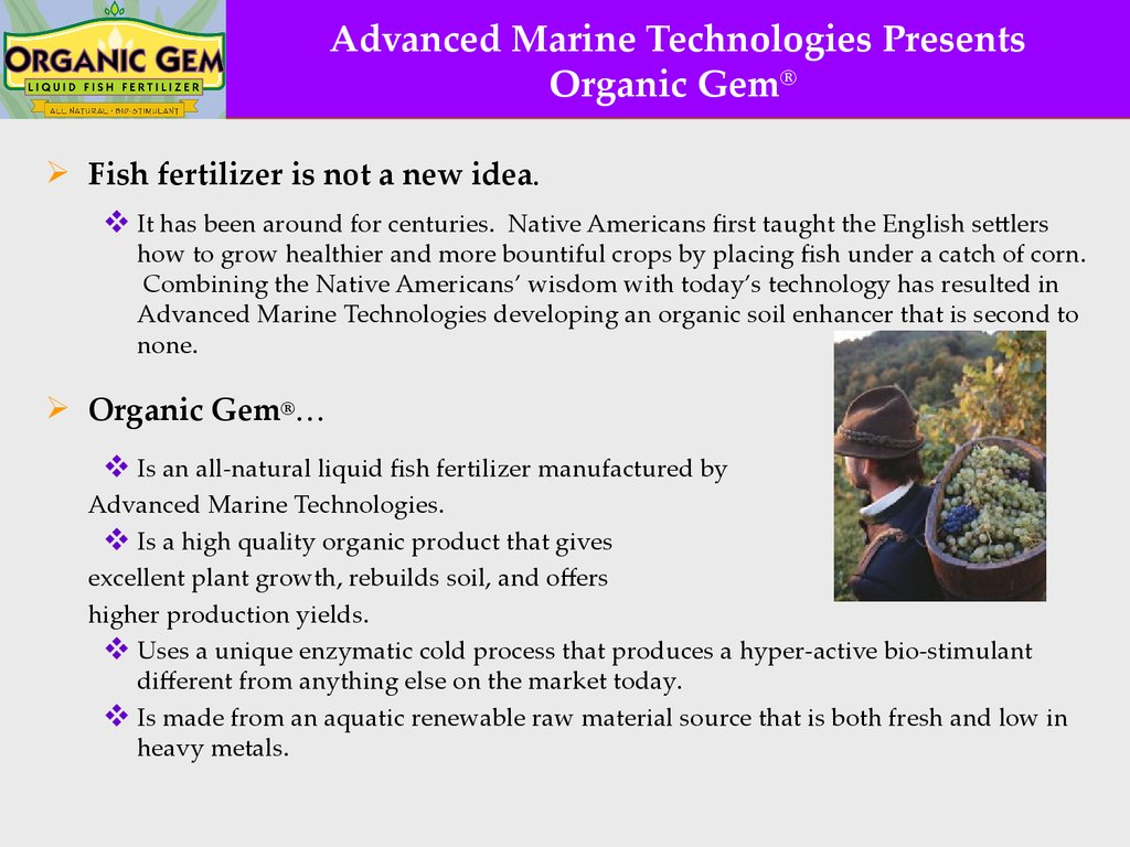 Organic Gem Fish Fertilizer Is Not A New Idea It Has Been Around For Centuries Native Americans First Taught The English Settlers