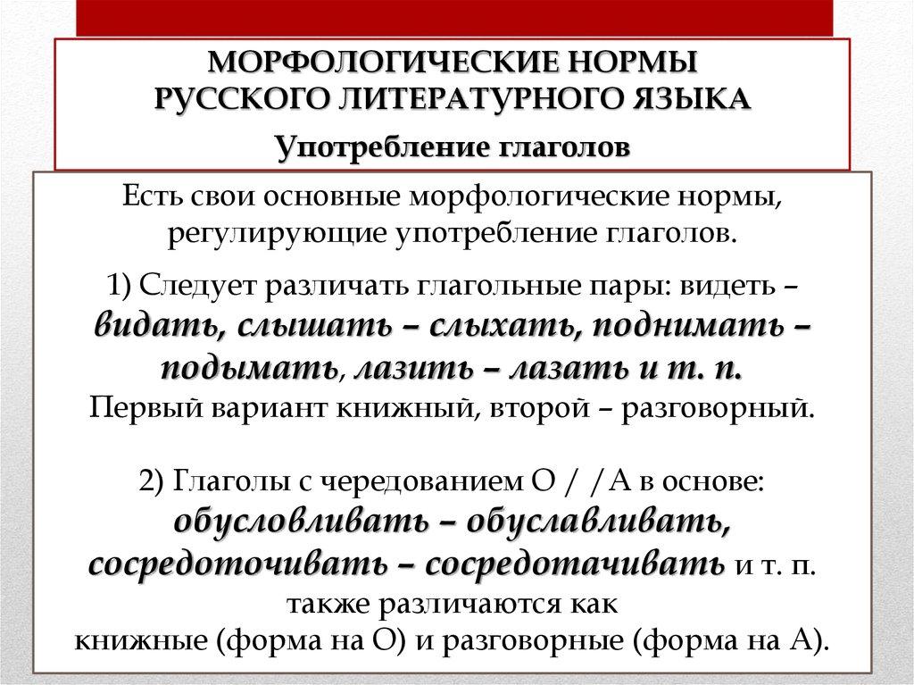 Морфологические нормы современного русского литературного языка доклад 5359