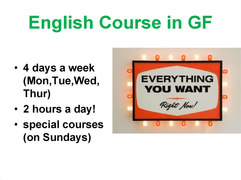 English Course in GF