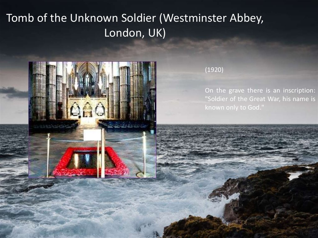 Tomb of the Unknown Soldier (Westminster Abbey, London, UK)