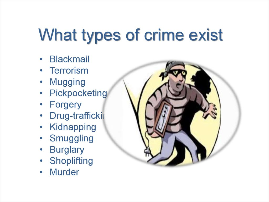 What types of crime exist