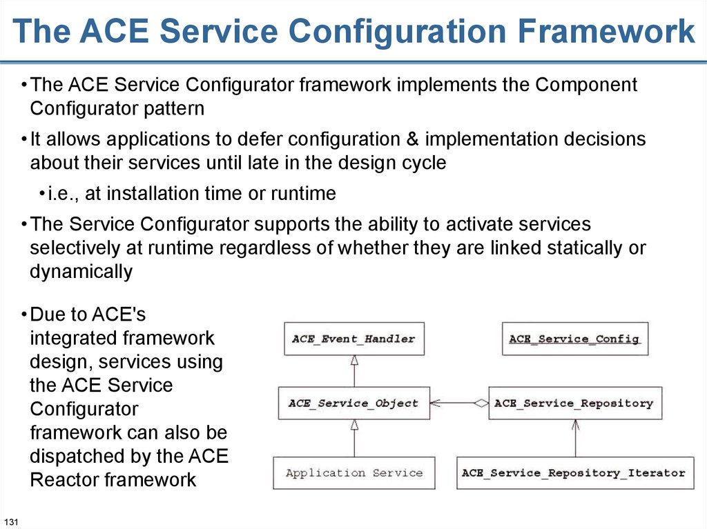 The ACE Service Configuration Framework