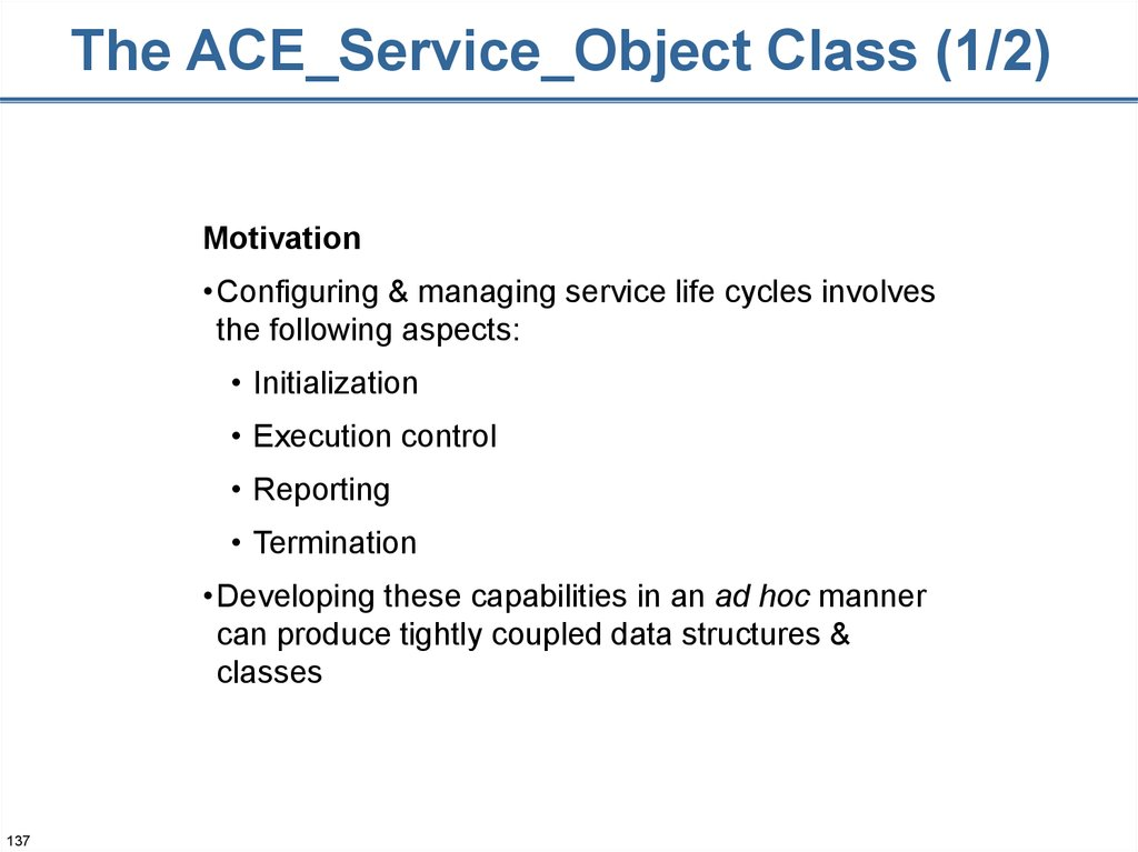 The ACE_Service_Object Class (1/2)