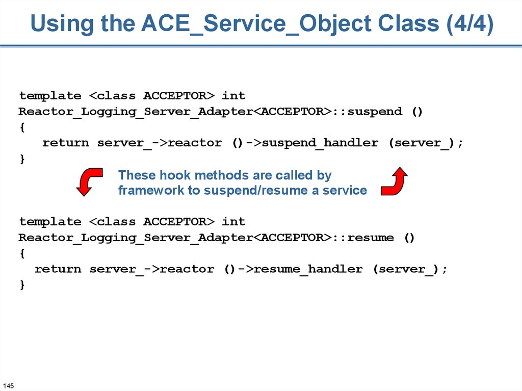Using the ACE_Service_Object Class (4/4)
