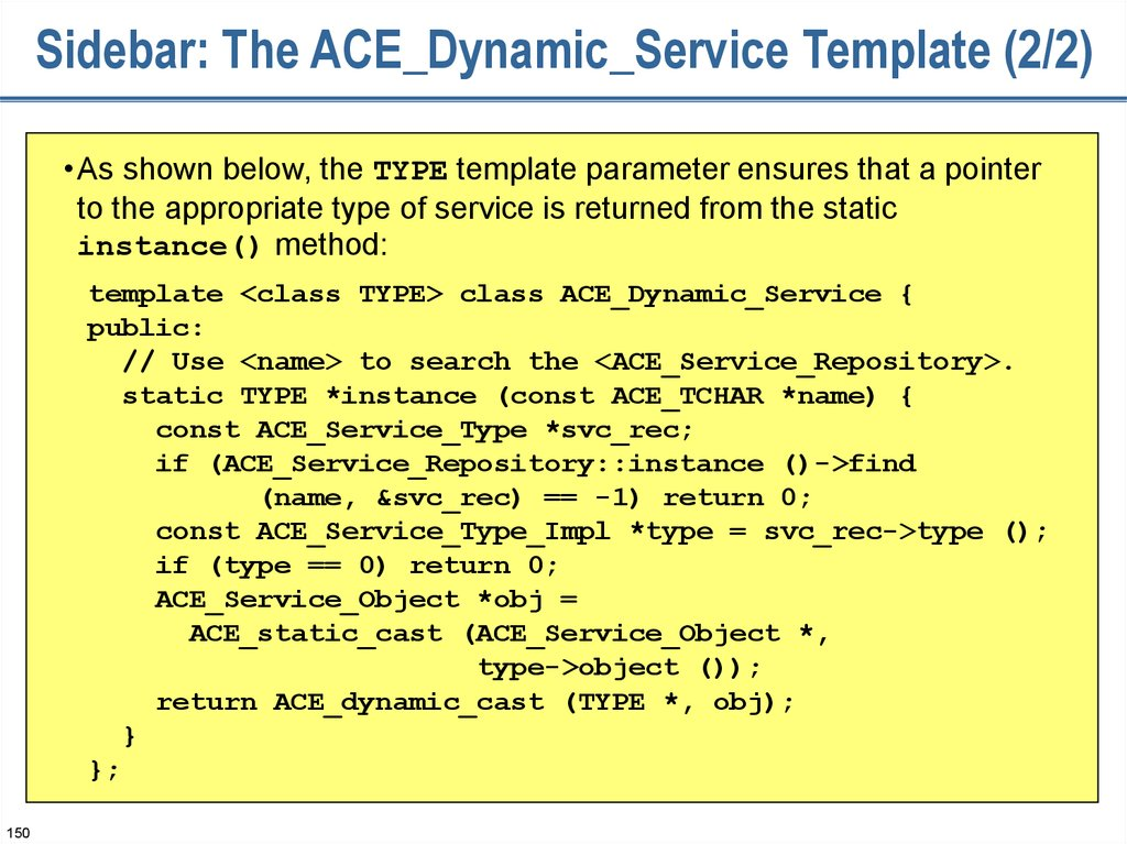 Sidebar: The ACE_Dynamic_Service Template (2/2)