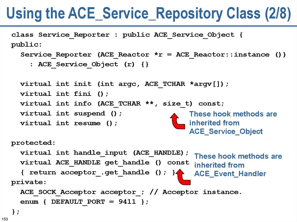 Using the ACE_Service_Repository Class (2/8)
