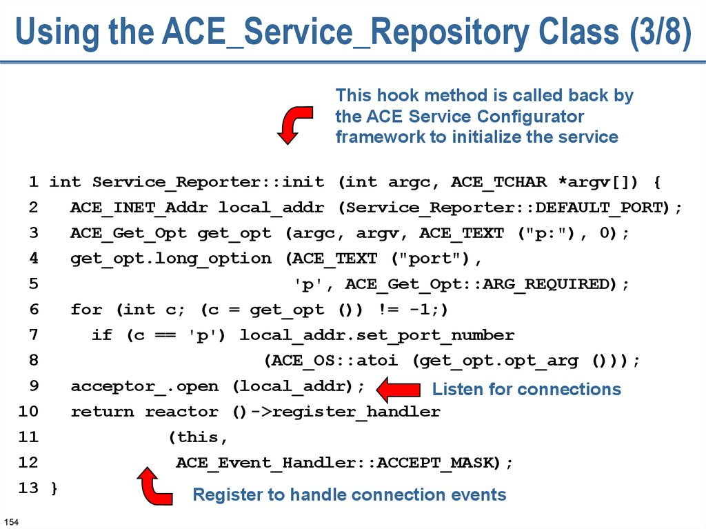 Using the ACE_Service_Repository Class (3/8)