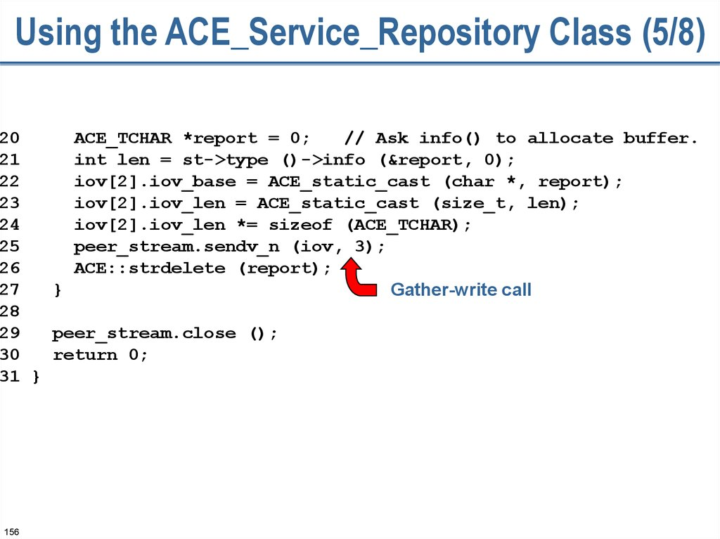 Using the ACE_Service_Repository Class (5/8)