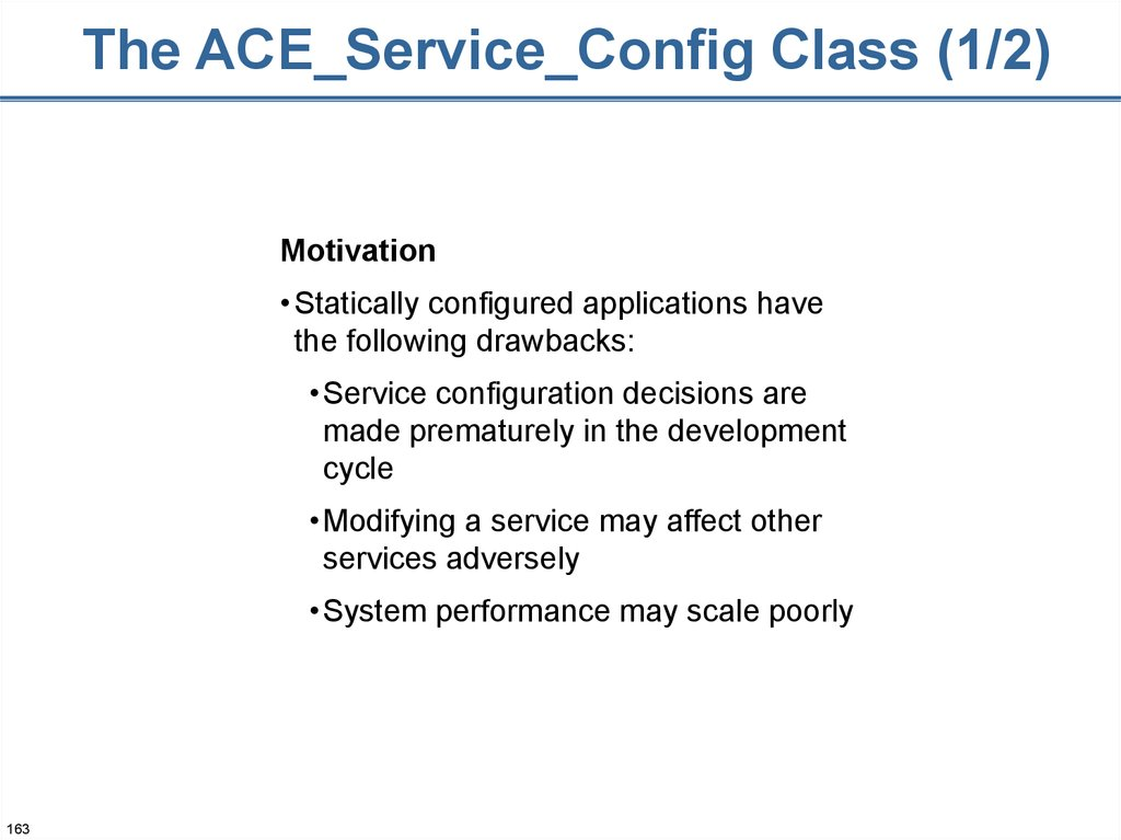 The ACE_Service_Config Class (1/2)
