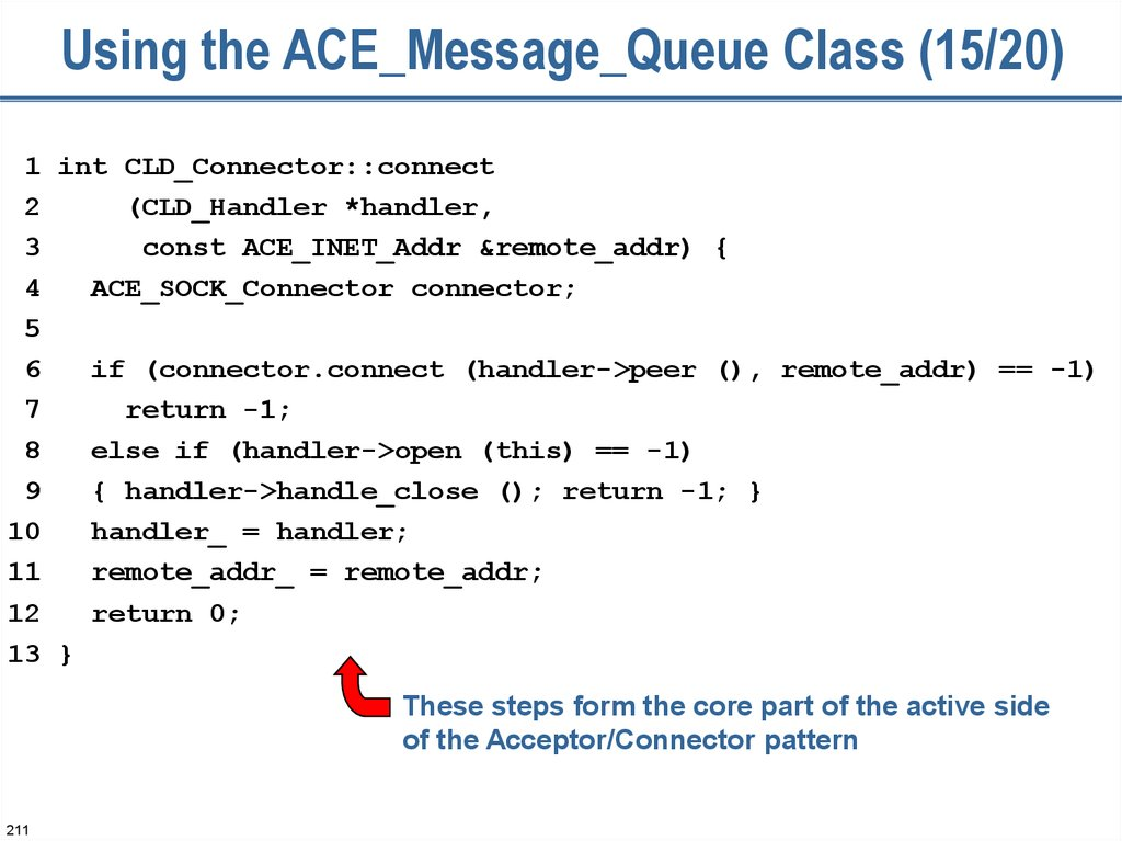 Using the ACE_Message_Queue Class (15/20)