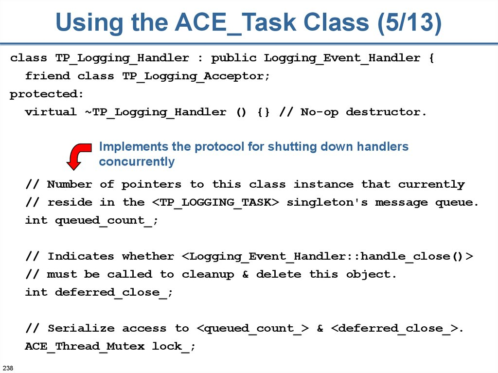 Using the ACE_Task Class (5/13)