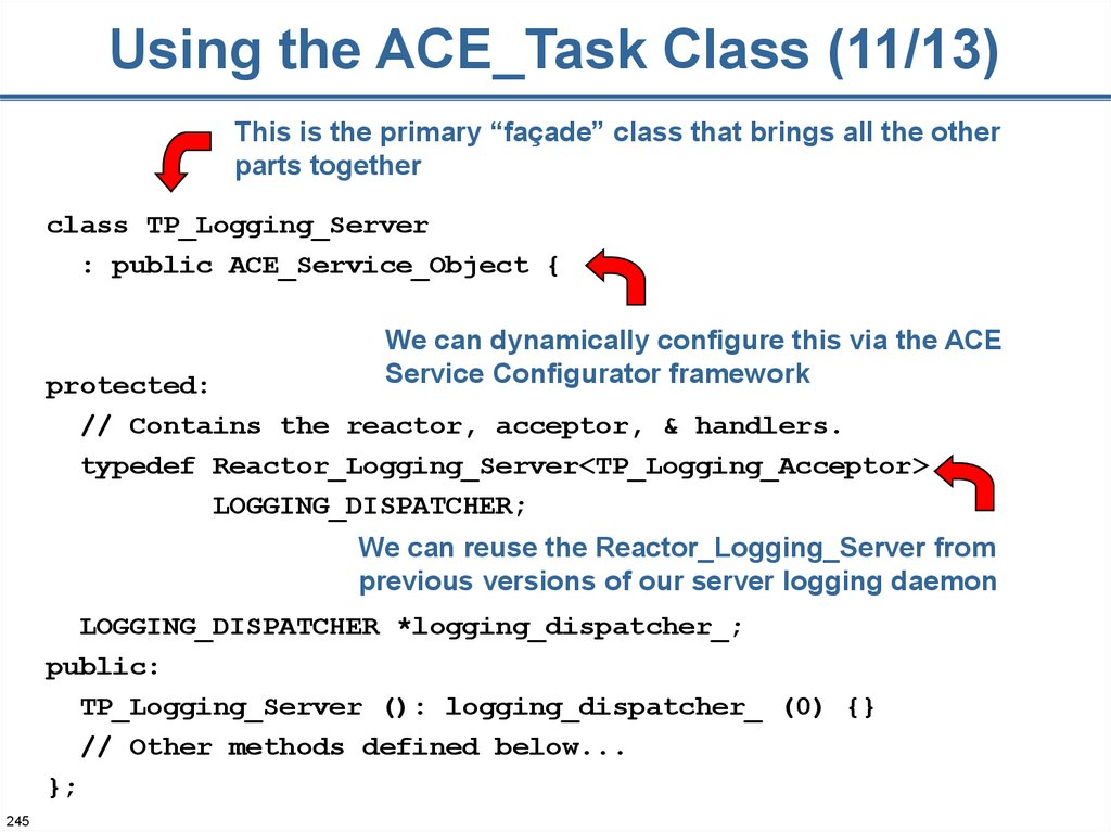 Using the ACE_Task Class (11/13)