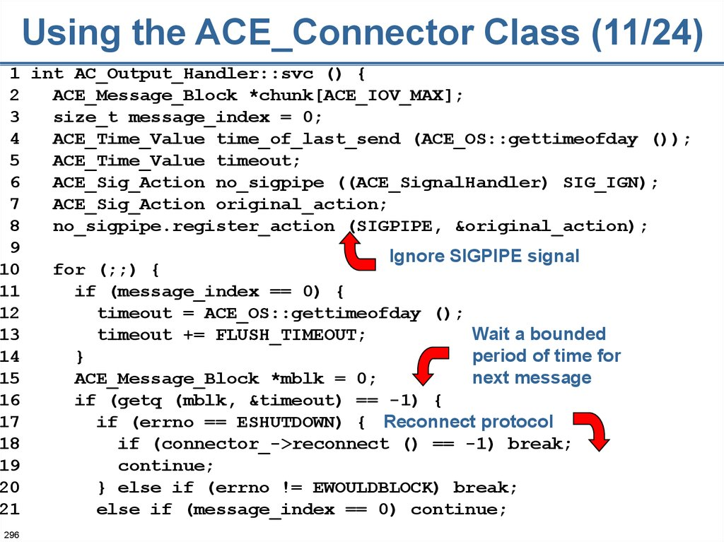 Using the ACE_Connector Class (11/24)