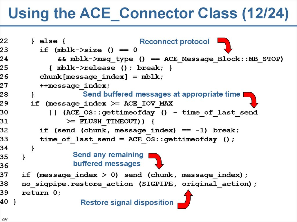 Using the ACE_Connector Class (12/24)