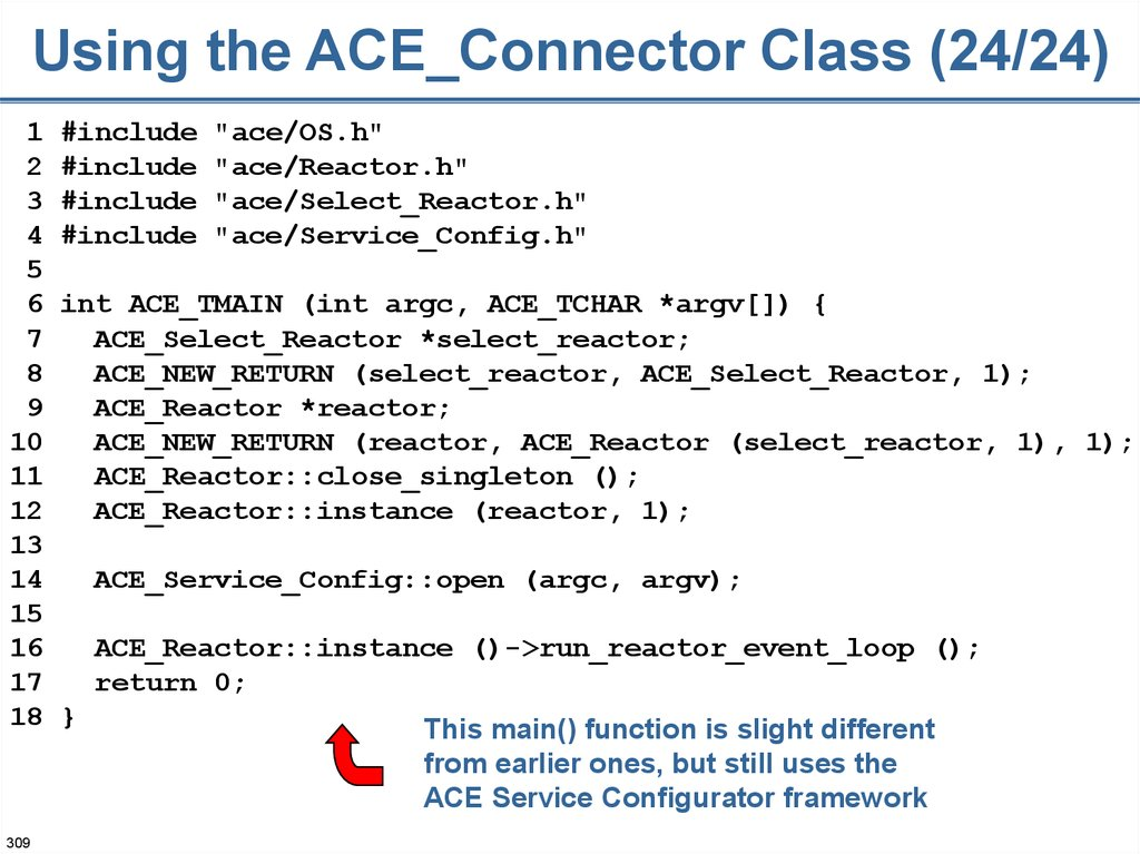 Using the ACE_Connector Class (24/24)