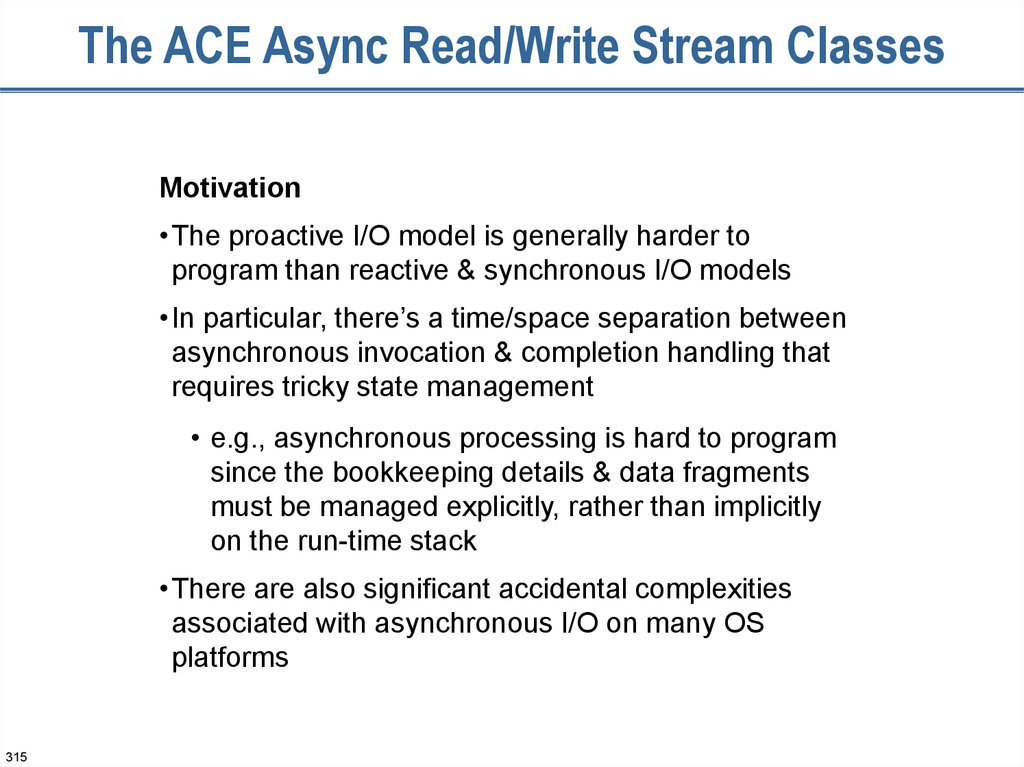 The ACE Async Read/Write Stream Classes