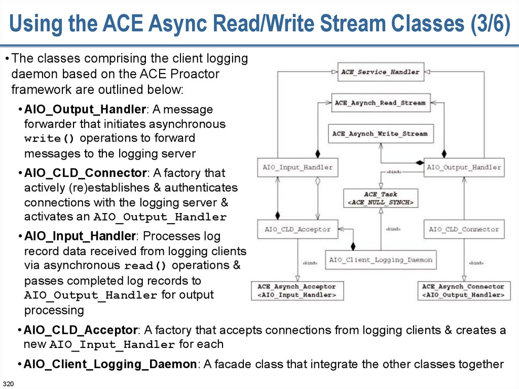 Using the ACE Async Read/Write Stream Classes (3/6)