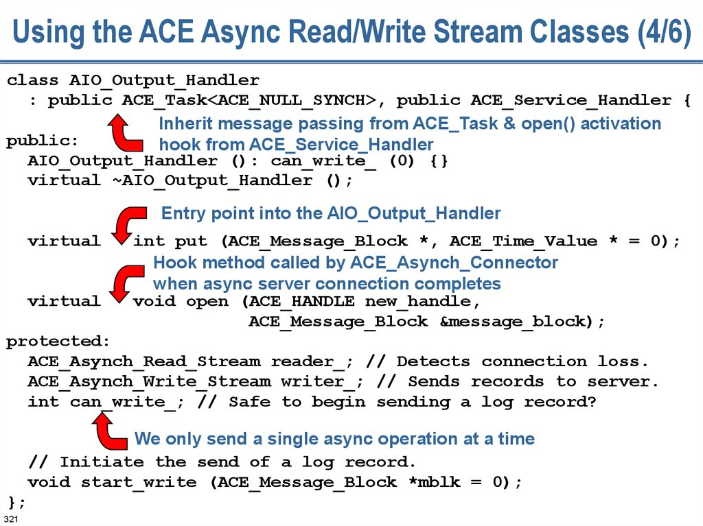 Using the ACE Async Read/Write Stream Classes (4/6)