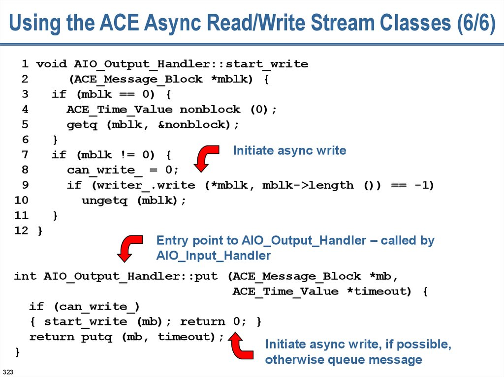 Using the ACE Async Read/Write Stream Classes (6/6)