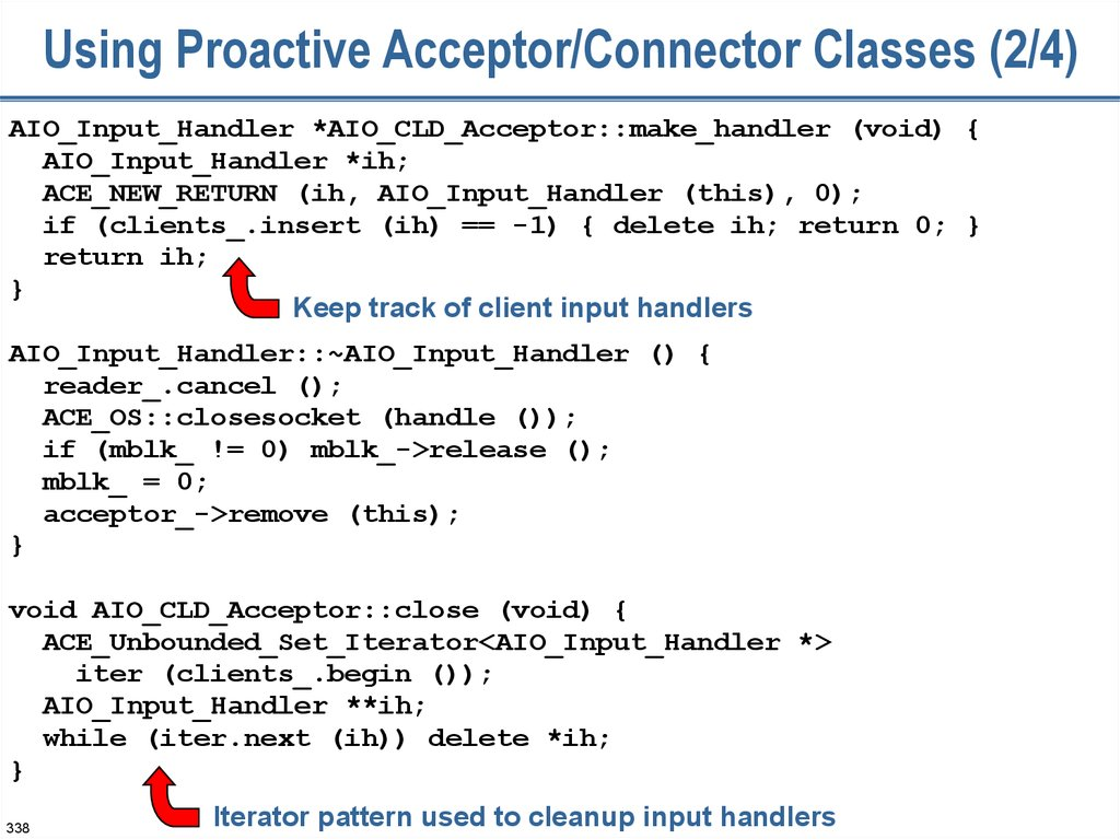 Using Proactive Acceptor/Connector Classes (2/4)