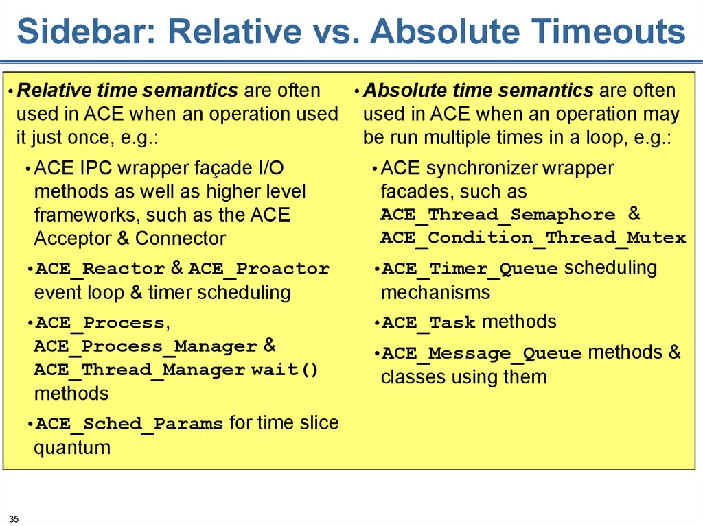 Sidebar: Relative vs. Absolute Timeouts
