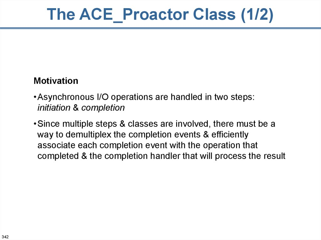 The ACE_Proactor Class (1/2)