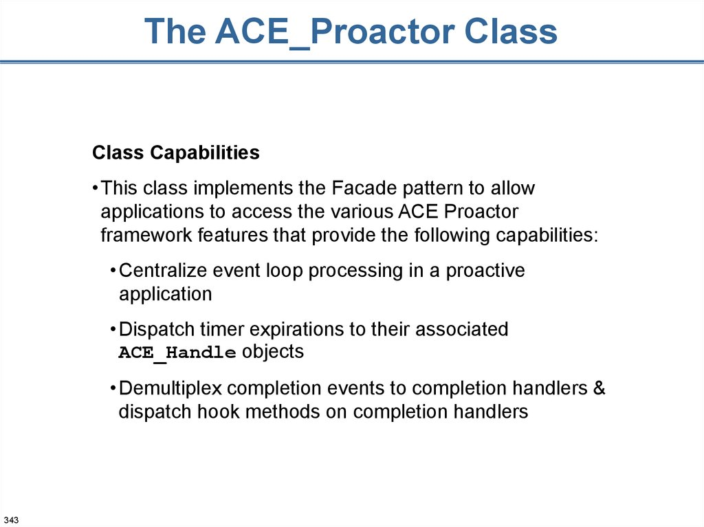 The ACE_Proactor Class