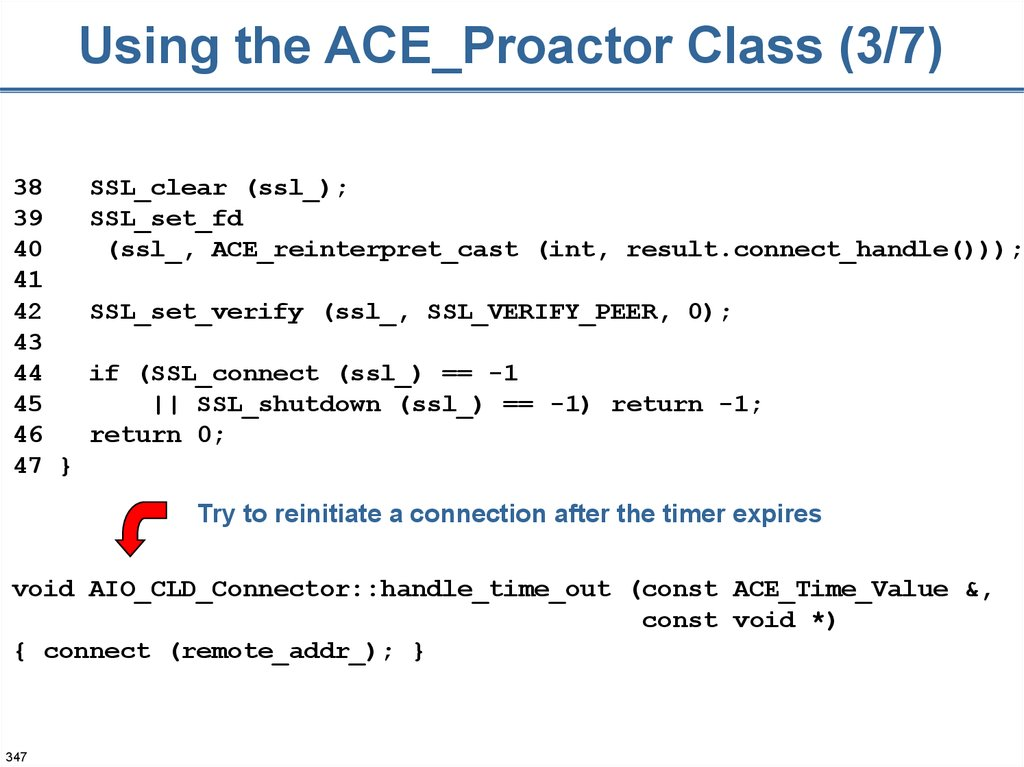 Using the ACE_Proactor Class (3/7)