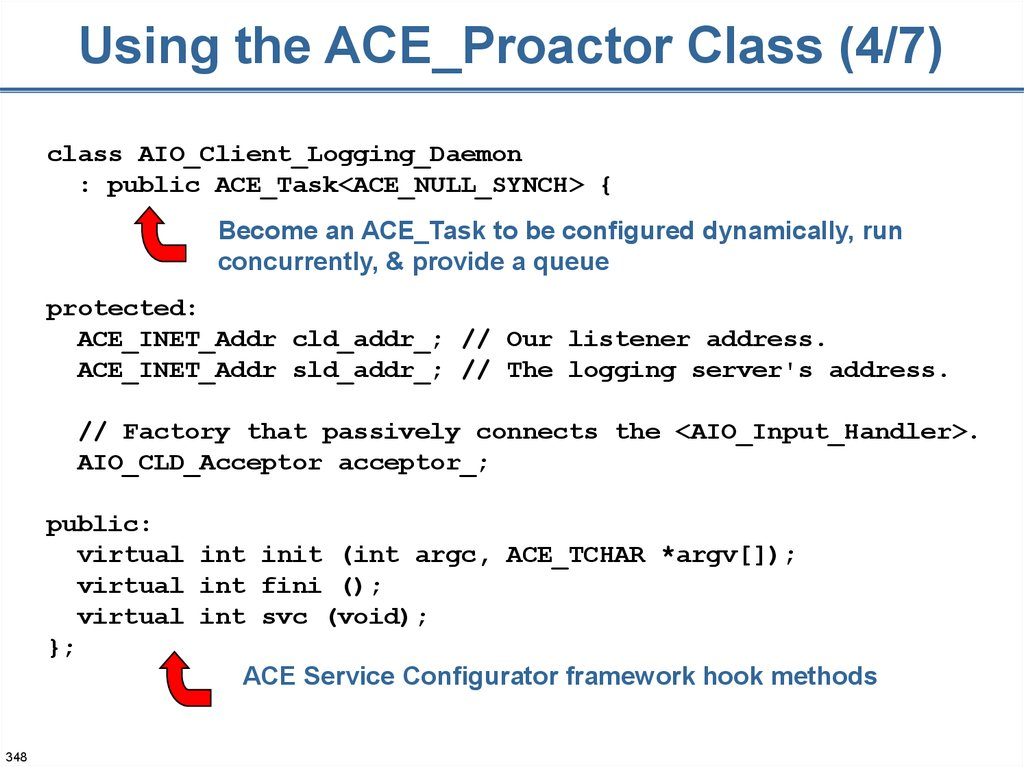 Using the ACE_Proactor Class (4/7)
