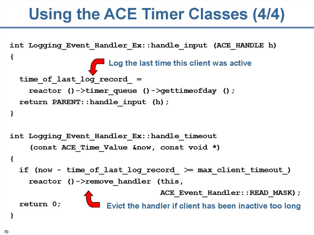 Using the ACE Timer Classes (4/4)