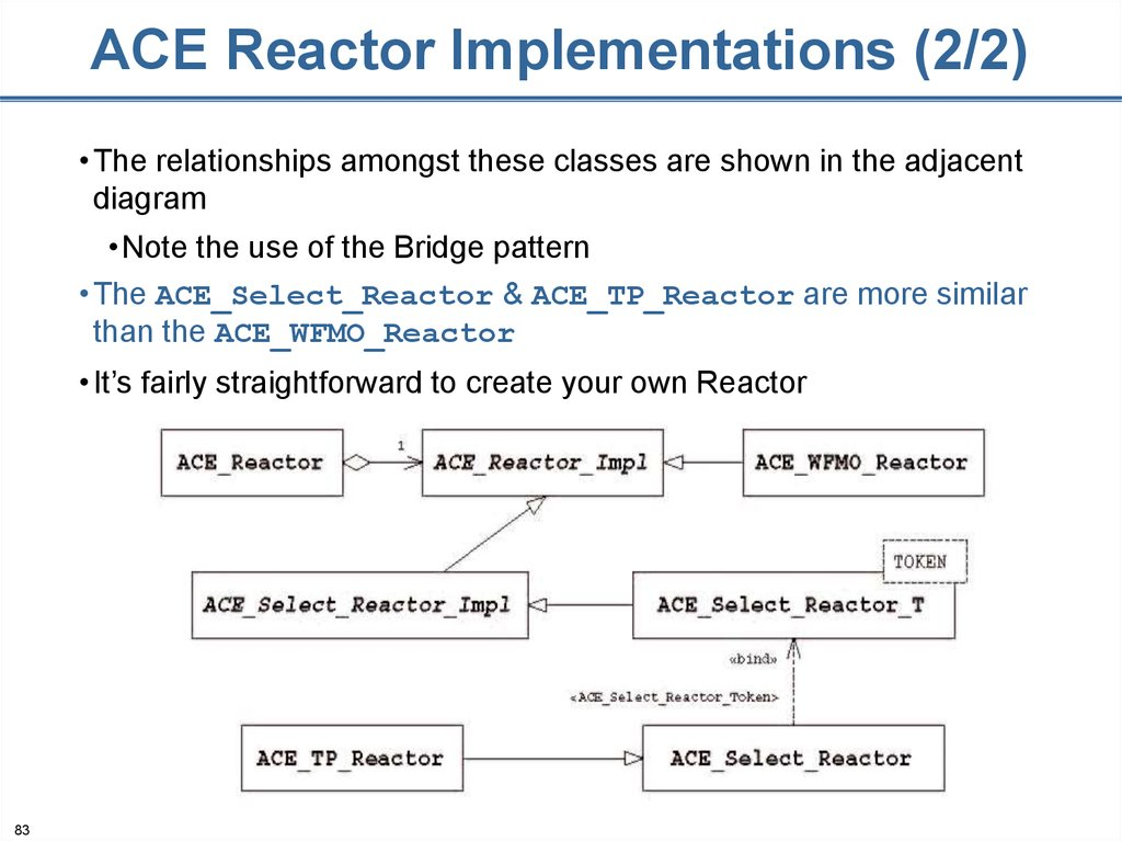 ACE Reactor Implementations (2/2)