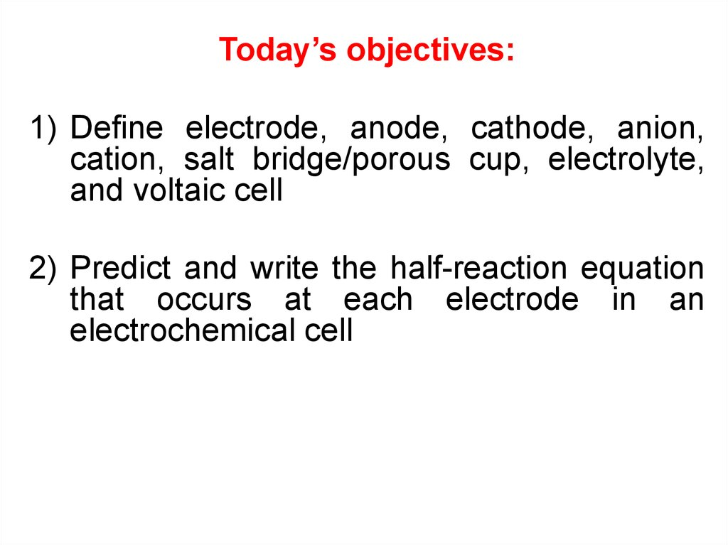 Electrochemical processes - online presentation
