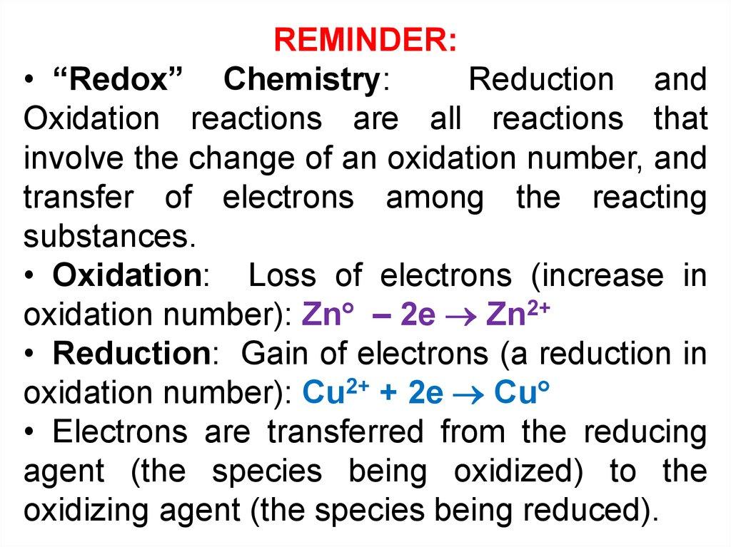 Electrochemical processes - online presentation