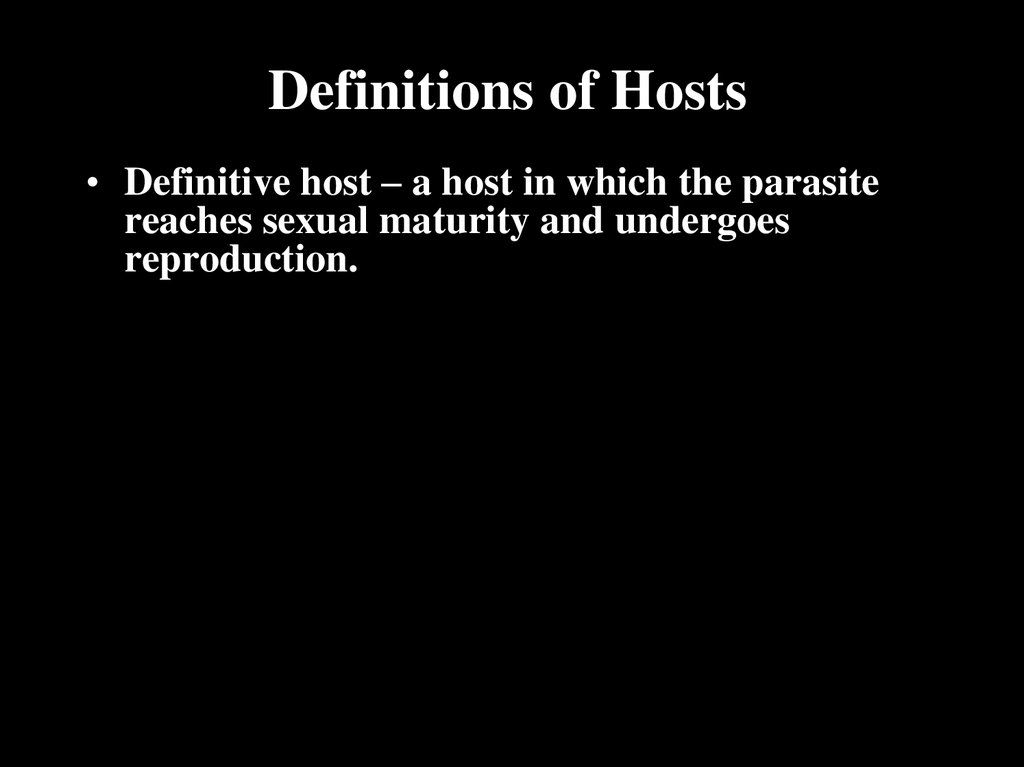 Definitions of Hosts