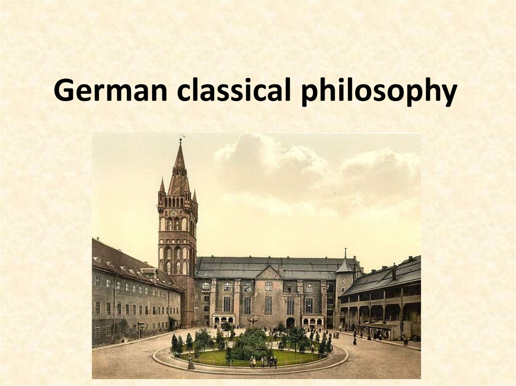 German classical philosophy