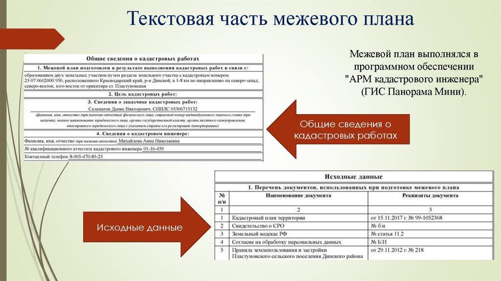 Отчет по практике межевой план 9837