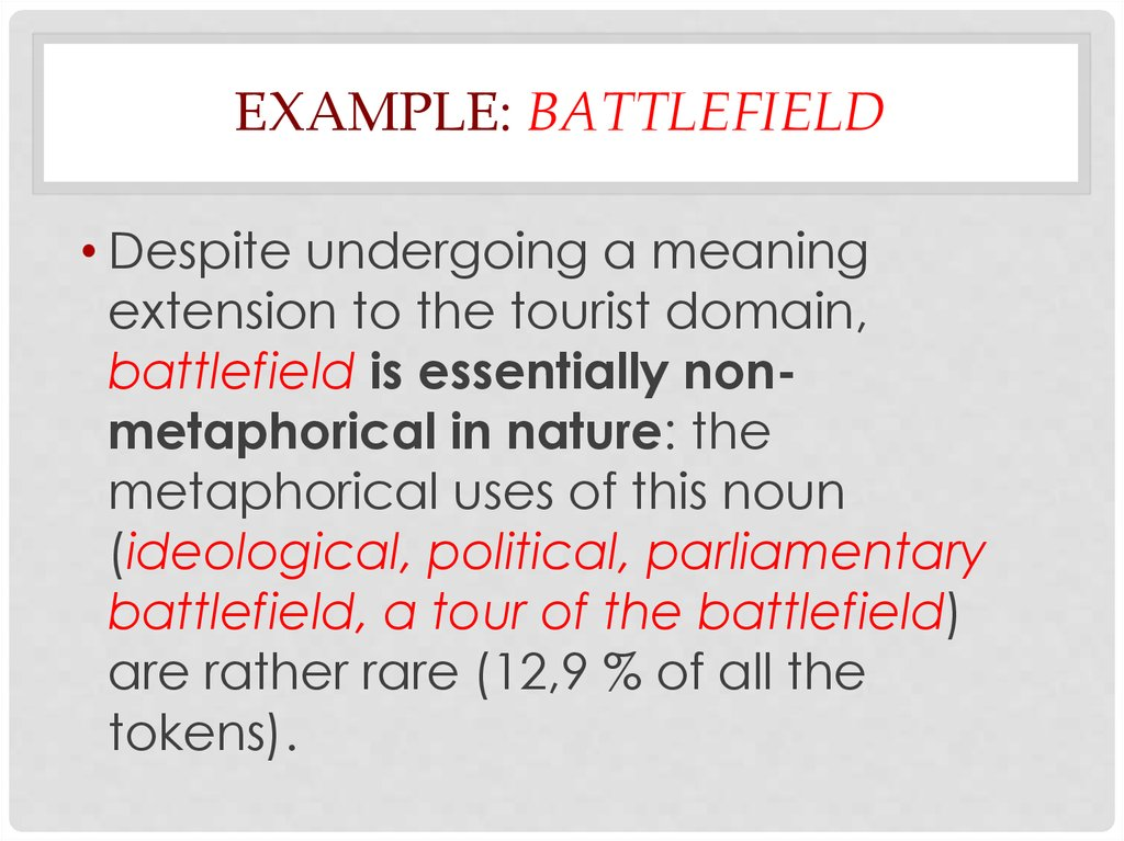 Contrastive lexicology 3. Studying metaphor with the ...