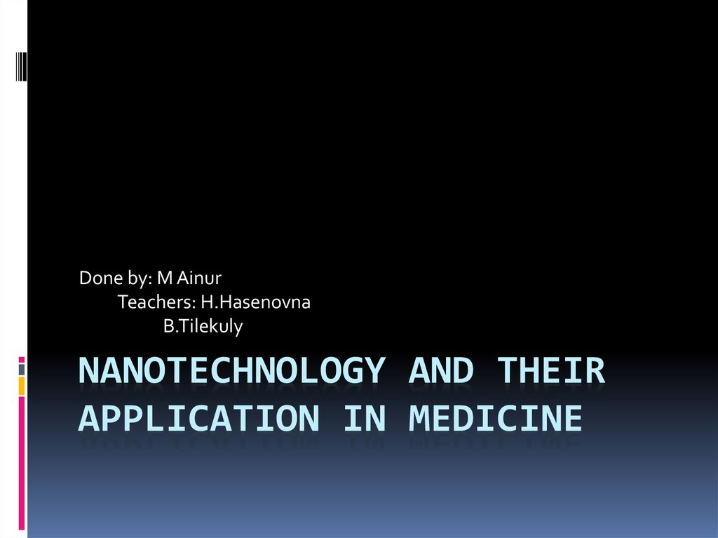 Nanotechnology and their application in medicine - online