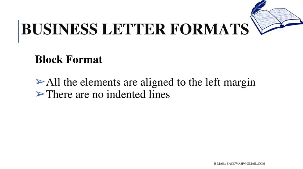 How to write a business letter business letter formats block format expocarfo Choice Image