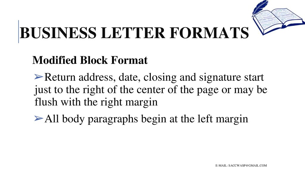 How To Write A Business Letter Online Presentation