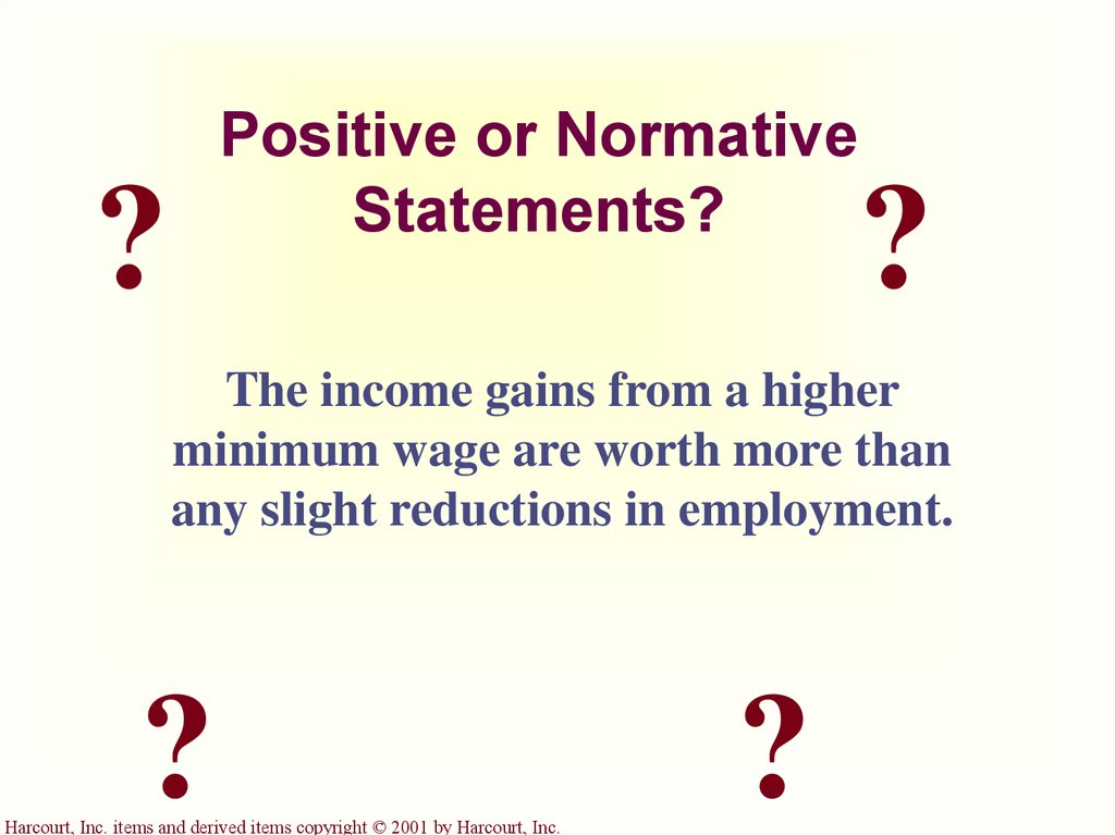 Positive or Normative Statements?