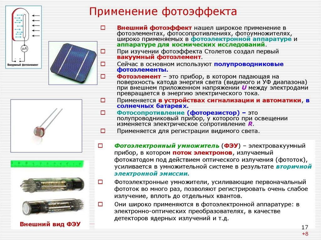презентация фотоны применение фотоэффекта снимке мария