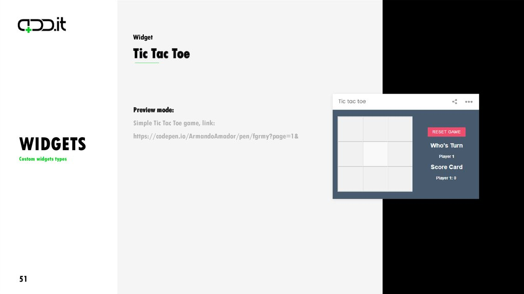 Widgets  Custom Widgets Types - online presentation