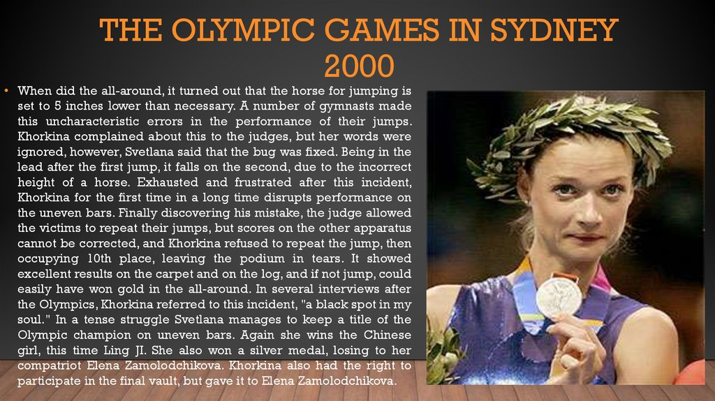 The Olympic games in Sydney 2000