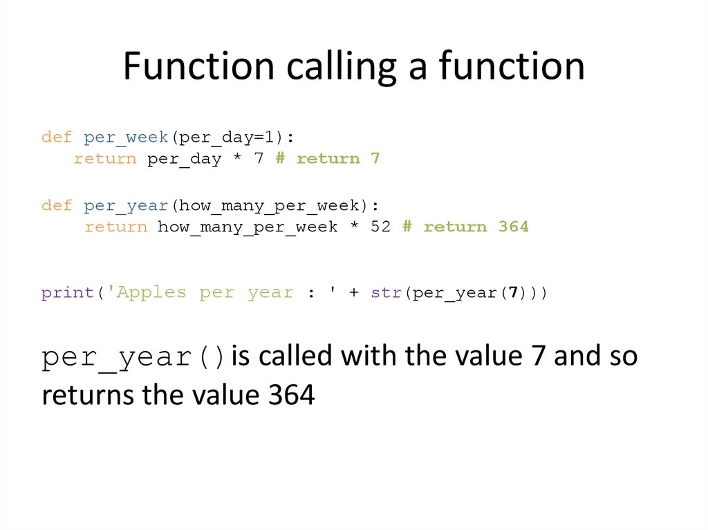 Function calling a function