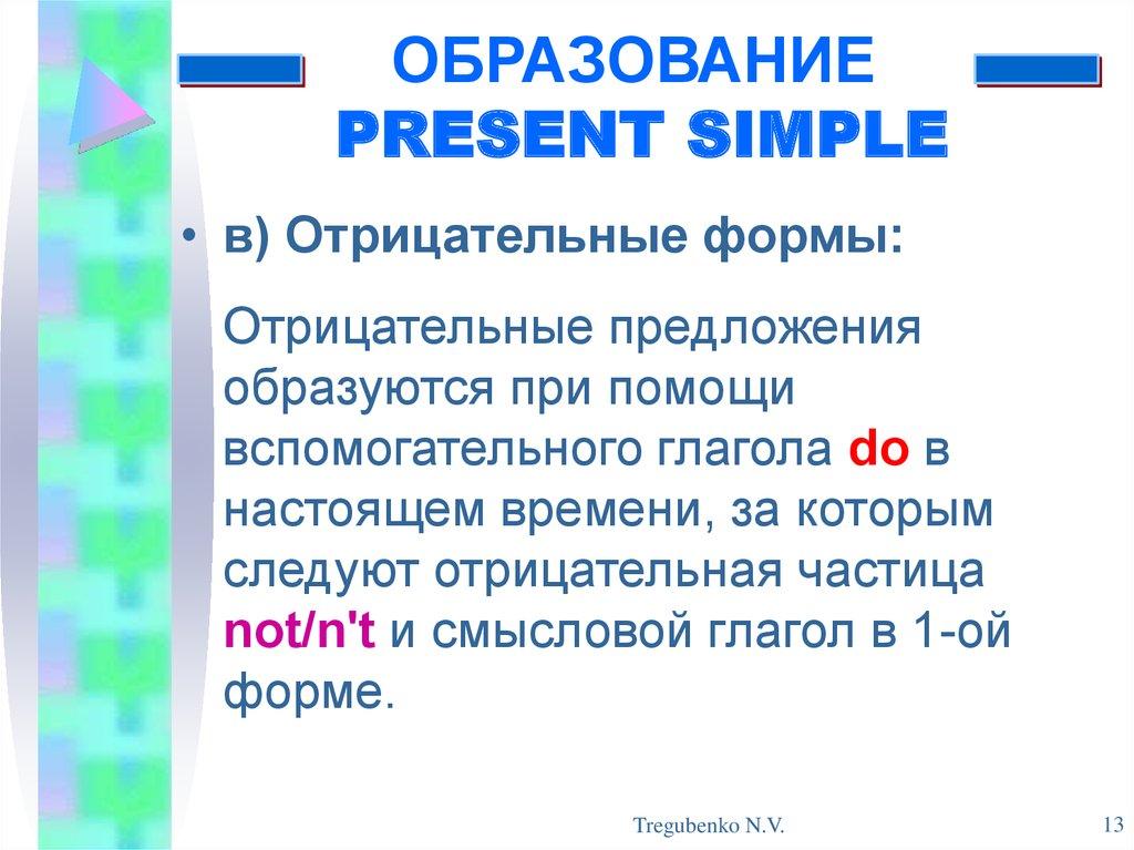 Английский язык Грамматика Глагол Примеры