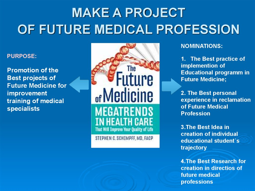 MAKE A PROJECT OF FUTURE MEDICAL PROFESSION